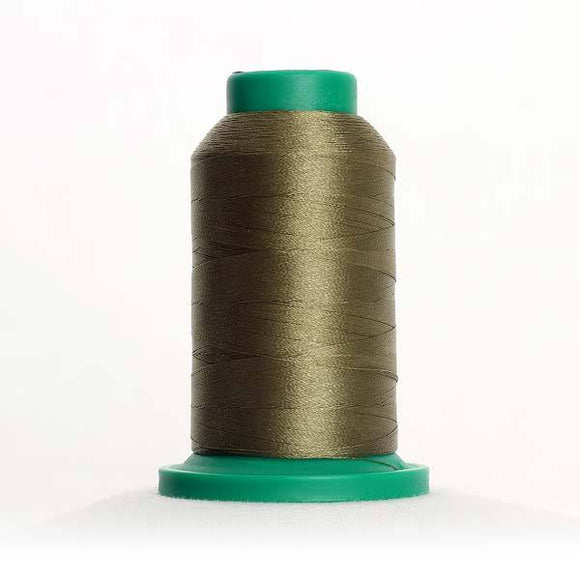 Isacord 1000m/1100yd 40wt solid trilobal polyester thread  number 0454 Olive Drab