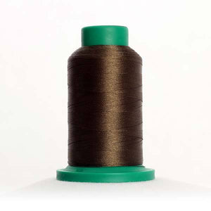 Isacord 5000m/5500yd 40wt solid trilobal polyester thread  number 0465 Umber