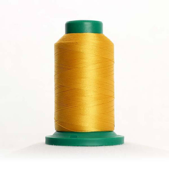 Isacord 1000m/1100yd 40wt solid trilobal polyester thread  number 0504 Mimosa