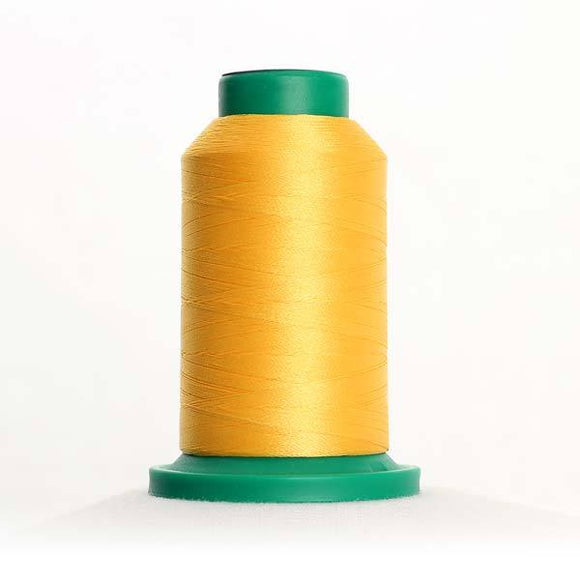 Isacord 5000m/5500yd 40wt solid trilobal polyester thread  number 0506 Yellow Bird