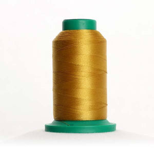 Isacord 5000m/5500yd 40wt solid trilobal polyester thread  number 0542 Ochre