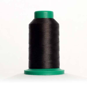 Isacord 1000m/1100yd 40wt solid trilobal polyester thread  number 0576 Very Dark Brown