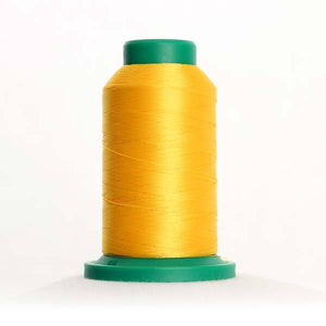 Isacord 5000m/5500yd 40wt solid trilobal polyester thread  number 0608 Sunshine