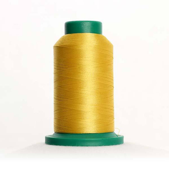 Isacord 1000m/1100yd 40wt solid trilobal polyester thread  number 0622 Star Gold