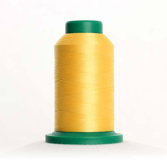 Isacord 5000m/5500yd 40wt solid trilobal polyester thread  number 0630 Buttercup