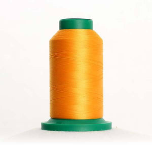 Isacord 5000m/5500yd 40wt solid trilobal polyester thread  number 0702 Papaya