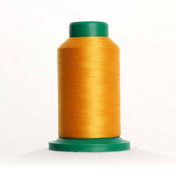 Isacord 5000m/5500yd 40wt solid trilobal polyester thread  number 0704 Gold