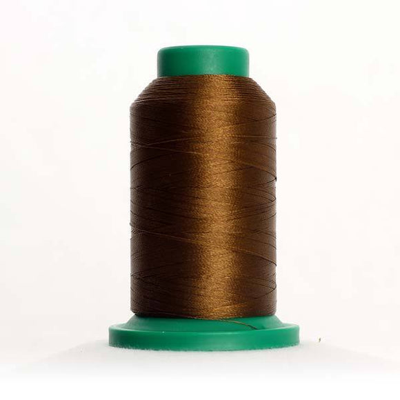 Isacord 5000m/5500yd 40wt solid trilobal polyester thread  number 0747 Golden Brown