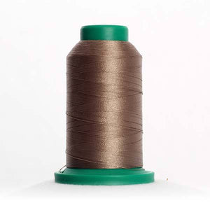 Isacord 1000m/1100yd 40wt solid trilobal polyester thread  number 0763 Dark Rattan