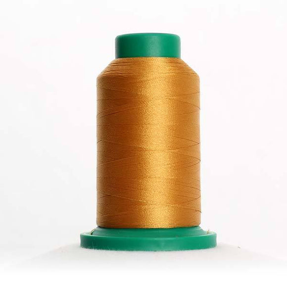 Isacord 5000m/5500yd 40wt solid trilobal polyester thread  number 0821 Honey Gold