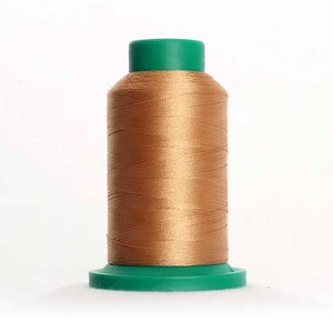 Isacord 5000m/5500yd 40wt solid trilobal polyester thread  number 0842 Toffee