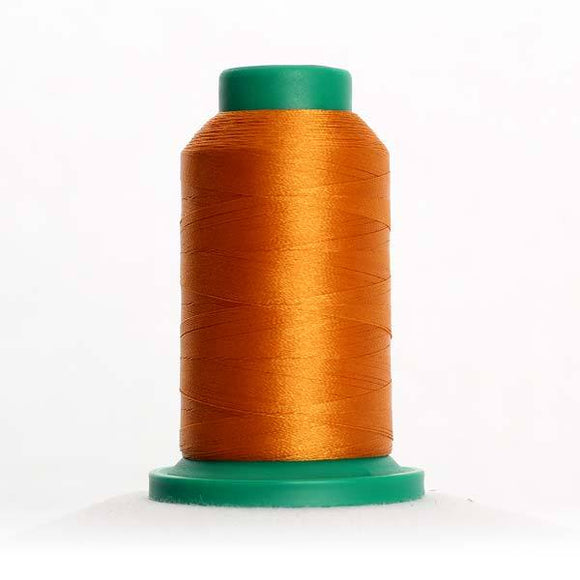 Isacord 5000m/5500yd 40wt solid trilobal polyester thread  number 0922 Ashley Gold