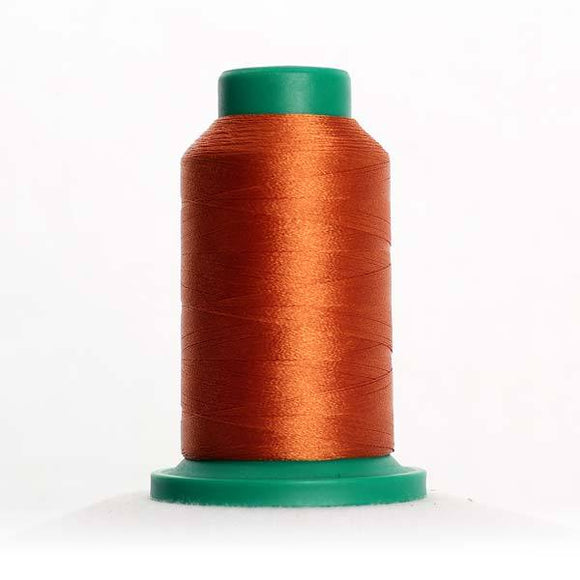 Isacord 5000m/5500yd 40wt solid trilobal polyester thread  number 0932 Nutmeg