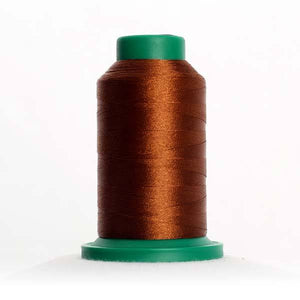 Isacord 5000m/5500yd 40wt solid trilobal polyester thread  number 0933 Redwood