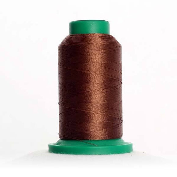 Isacord 5000m/5500yd 40wt solid trilobal polyester thread  number 1055 Bark