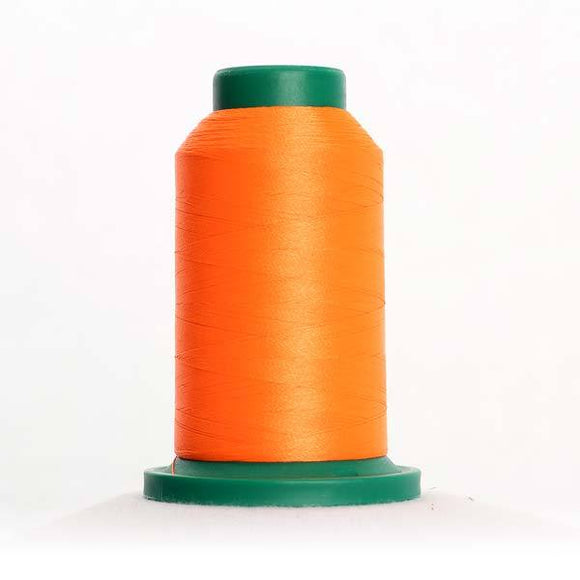 Isacord 5000m/5500yd 40wt neon trilobal polyester thread  number 1106 Orange