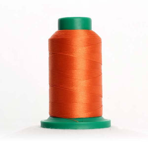 Isacord 5000m/5500yd 40wt solid trilobal polyester thread  number 1114 Clay
