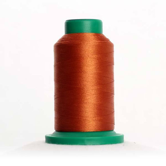 Isacord 5000m/5500yd 40wt solid trilobal polyester thread  number 1115 Copper