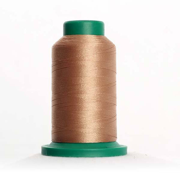 Isacord 5000m/5500yd 40wt solid trilobal polyester thread  number 1123 Caramel Cream