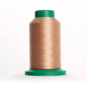 Isacord 5000m/5500yd 40wt solid trilobal polyester thread  number 1141 Tan
