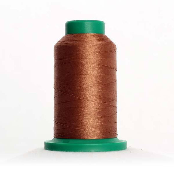 Isacord 5000m/5500yd 40wt solid trilobal polyester thread  number 1154 Penny