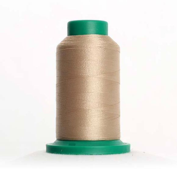 Isacord 1000m/1100yd 40wt solid trilobal polyester thread  number 1161 Straw