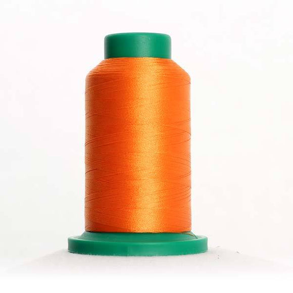 Isacord 1000m/1100yd 40wt solid trilobal polyester thread  number 1200 Sunset Orange