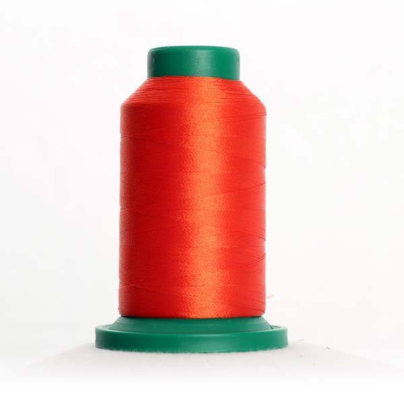 Isacord 5000m/5500yd 40wt solid trilobal polyester thread  number 1301 Paprika