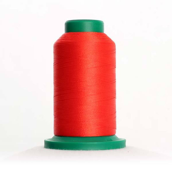 Isacord 5000m/5500yd 40wt solid trilobal polyester thread  number 1305 Fox Fire