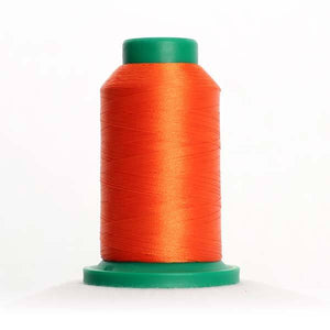 Isacord 5000m/5500yd 40wt solid trilobal polyester thread  number 1310 Hunter Orange