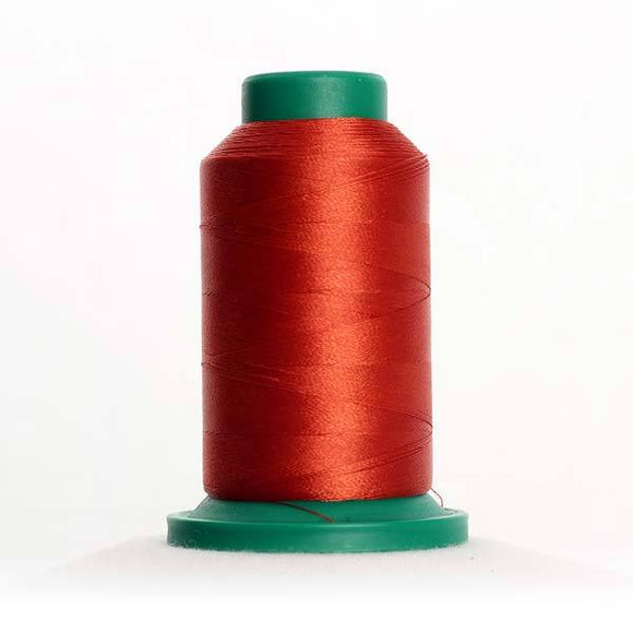 Isacord 5000m/5500yd 40wt solid trilobal polyester thread  number 1312 Burnt Orange