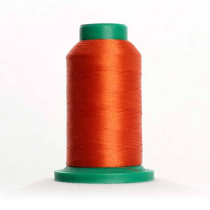 Isacord 1000m/1100yd 40wt solid trilobal polyester thread  number 1321 Dark Orange