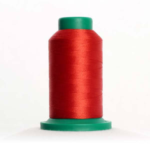 Isacord 5000m/5500yd 40wt solid trilobal polyester thread  number 1335 Dark Rust