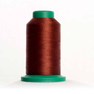 Isacord 5000m/5500yd 40wt solid trilobal polyester thread  number 1344 Coffee Bean