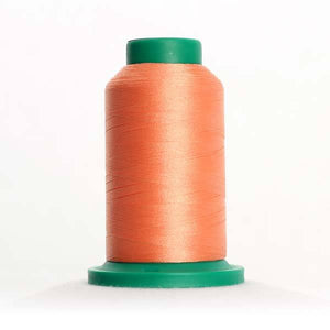 Isacord 5000m/5500yd 40wt solid trilobal polyester thread  number 1352 Salmon