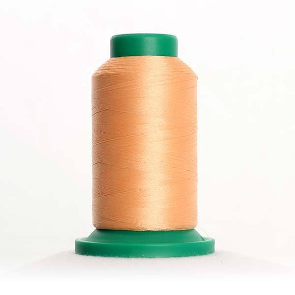 Isacord 5000m/5500yd 40wt solid trilobal polyester thread  number 1362 Shrimp