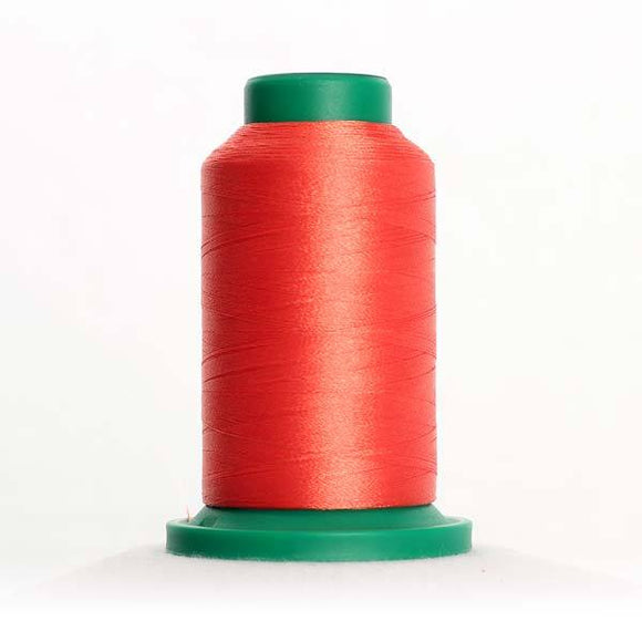 Isacord 5000m/5500yd 40wt solid trilobal polyester thread  number 1521 Flamingo
