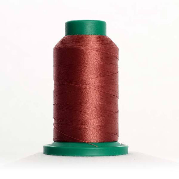 Isacord 5000m/5500yd 40wt solid trilobal polyester thread  number 1543 Rusty Rose
