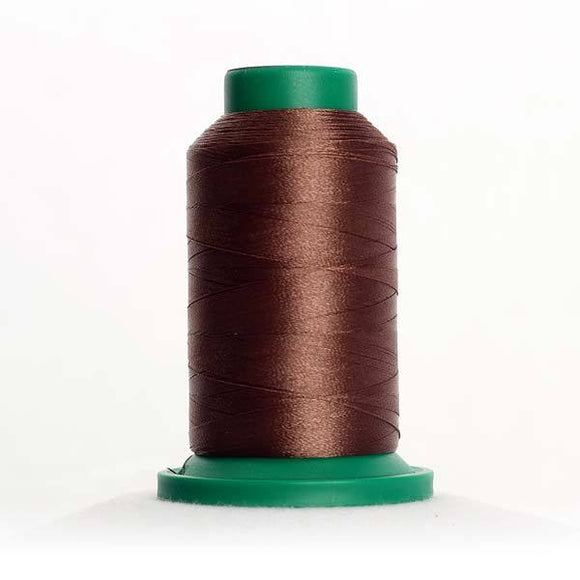 Isacord 5000m/5500yd 40wt solid trilobal polyester thread  number 1565 Espresso