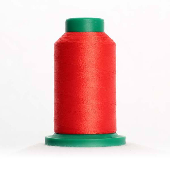 Isacord 5000m/5500yd 40wt solid trilobal polyester thread  number 1701 Red Berry