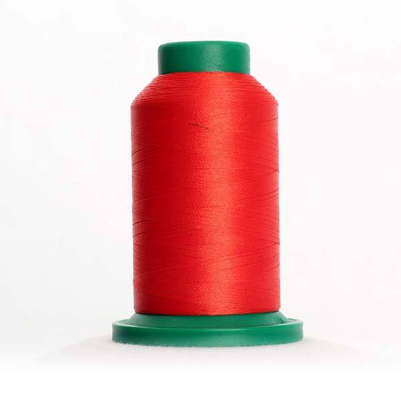 Isacord 5000m/5500yd 40wt solid trilobal polyester thread  number 1703 Poppy