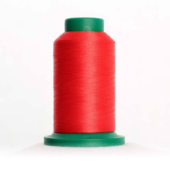 Isacord 5000m/5500yd 40wt solid trilobal polyester thread  number 1720 Not Quite Red