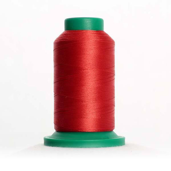 Isacord 5000m/5500yd 40wt solid trilobal polyester thread  number 1725 Terra Cotta