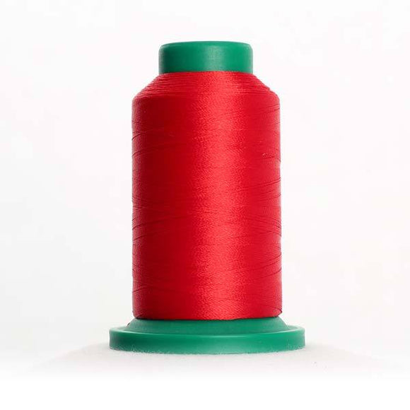 Isacord 5000m/5500yd 40wt solid trilobal polyester thread  number 1800 Wildfire