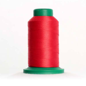 Isacord 5000m/5500yd 40wt solid trilobal polyester thread  number 1805 Strawberry