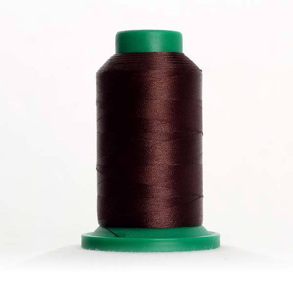 Isacord 5000m/5500yd 40wt solid trilobal polyester thread  number 1876 Chocolate