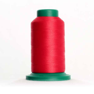 Isacord 5000m/5500yd 40wt solid trilobal polyester thread  number 1900 Geranium