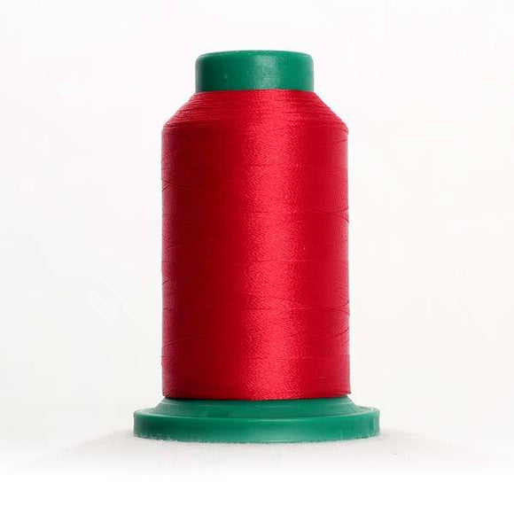 Isacord 5000m/5500yd 40wt solid trilobal polyester thread  number 1902 Poinsettia