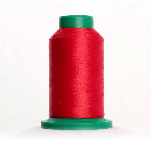 Isacord 5000m/5500yd 40wt solid trilobal polyester thread  number 1904 Cardinal