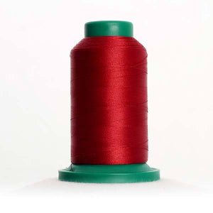 Isacord 5000m/5500yd 40wt solid trilobal polyester thread  number 1913 Cherry